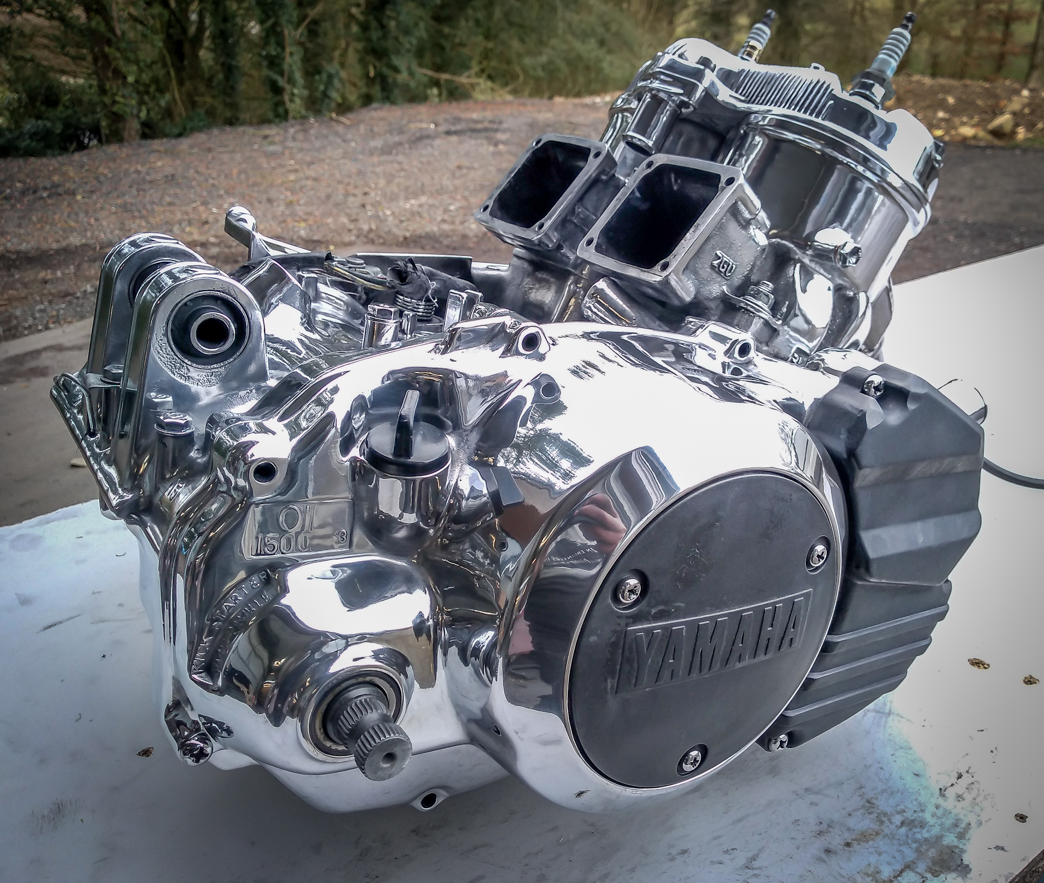 Quad bike engine restored_