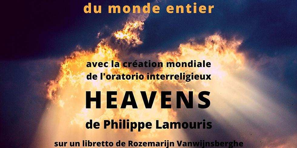 """Nuit Sacrée avec création mondiale de l'oratorio interreligieux """" Heavens """""""