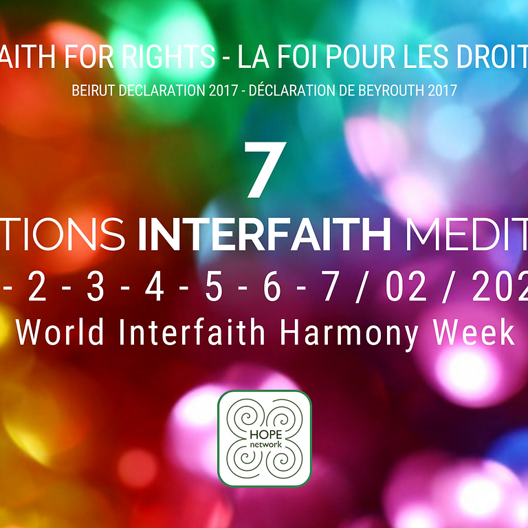 Sept jours, sept méditations interfaith