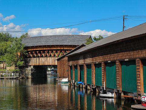 Riveredge Marina Boathouses on Squam Lak