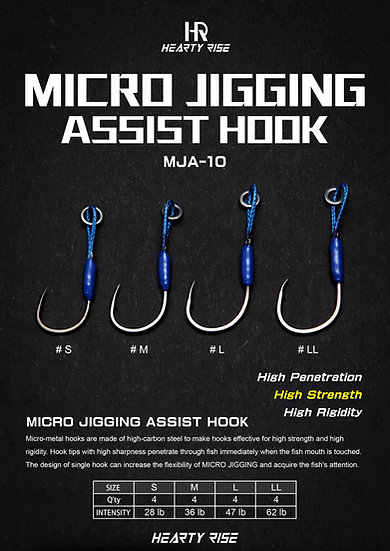 HR MICRO JIGGING ASSIST HOOK (In stock Jun 2019)