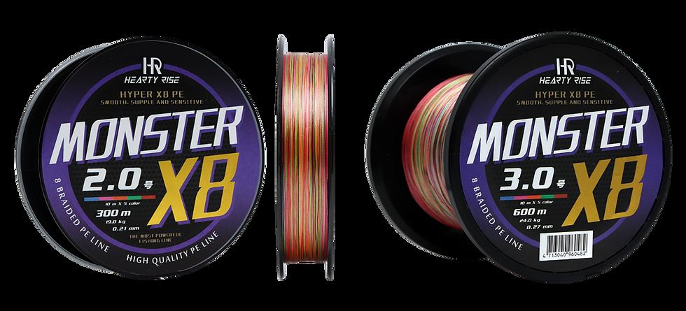 MONSTER X8 PE LINE 300m/600m/1200m