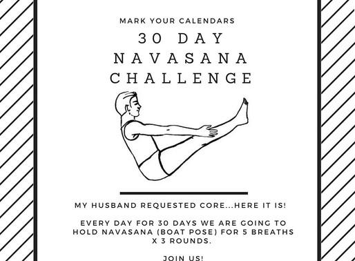 30 Days in Boat Pose