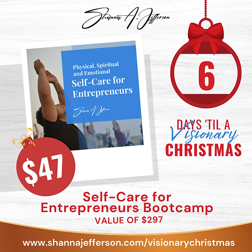 {Visionary Christmas} Self-Care Bootcamp
