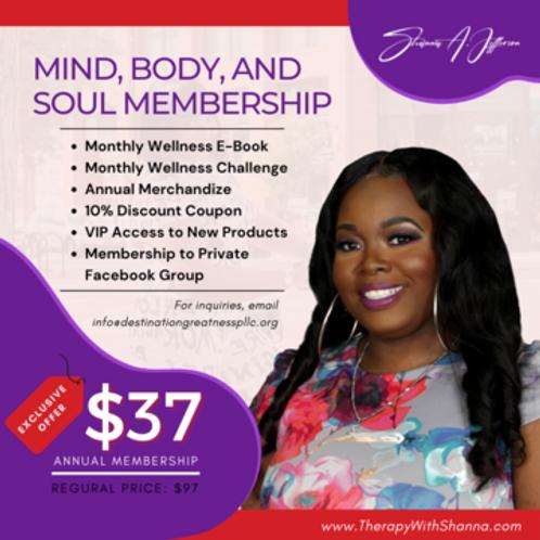 Mind, Body, Soul Membership