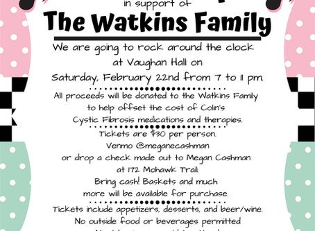 Sock Hop to Benefit the Watkins Family