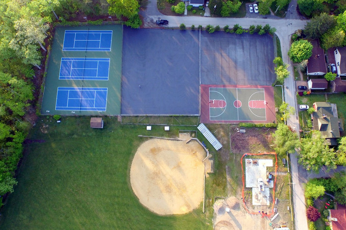 2016 May 25th drone shot of Brooks Field