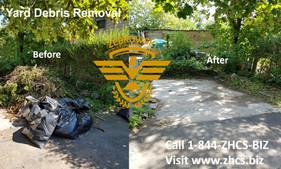 Yard Debris Cleanup & Removal