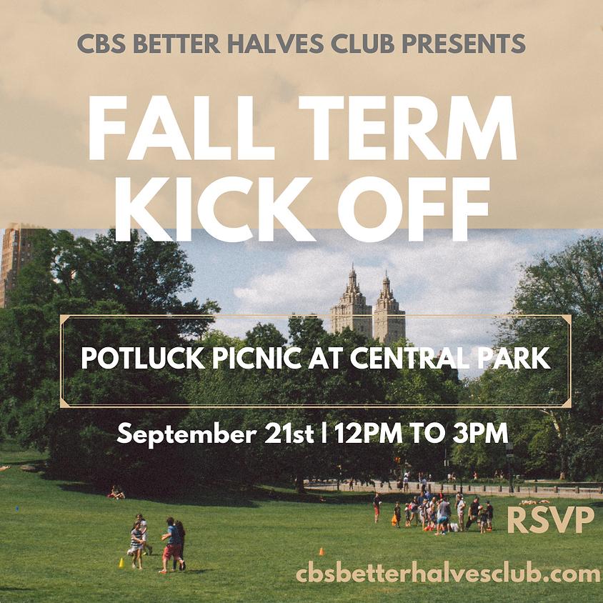Fall Term Kick Off: Potluck Picnic at Central Park