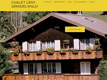 Website Chalet Leny ist Online
