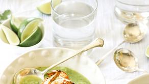 Gaspacho de concombre et crevette