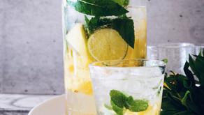 Eau aromatisée menthe et citron
