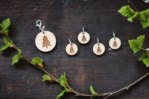 Pine Tree Stitch Marker Set