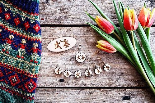 Ringdans (Circle Dance) Stitch Marker Set