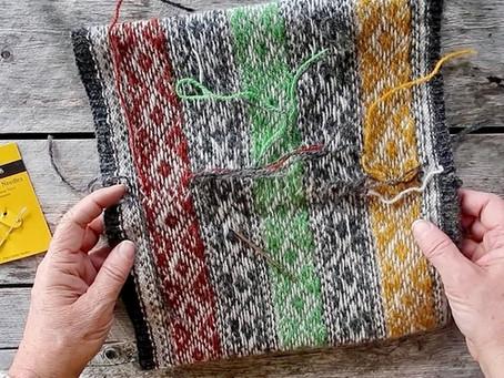 Stranded Knitting Course - Weaving in stranded knitting ends!