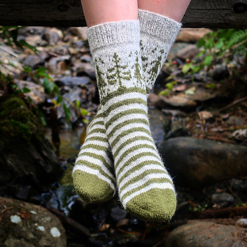 Forest Path Socks
