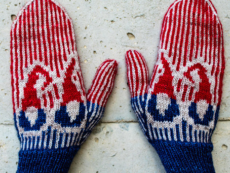"""Selbu """"style"""" Mitten KAL - Nisse votter and Zoom on Wednesday!"""