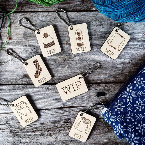 WIP Project Bag Tags