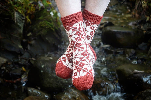 Selbu Sock Design 1