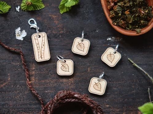 Birch Leaf Stitch Marker Set