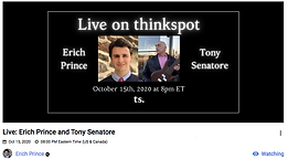 Live @ Thinkspot: Erich Prince and Tony Senatore