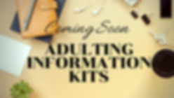 Coming Soon Ad Adulting Information Kits