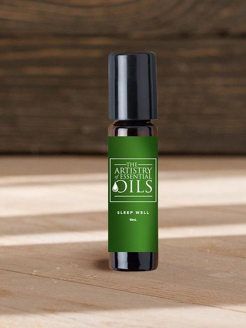 Sleep Well Rollerball Blend - Lavender, Chamomile, Bergamot Essential Oils