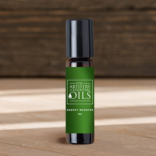 Energy Boost Rollerball Blend - Peppermint, Grapefruit, Lime Essential Oils