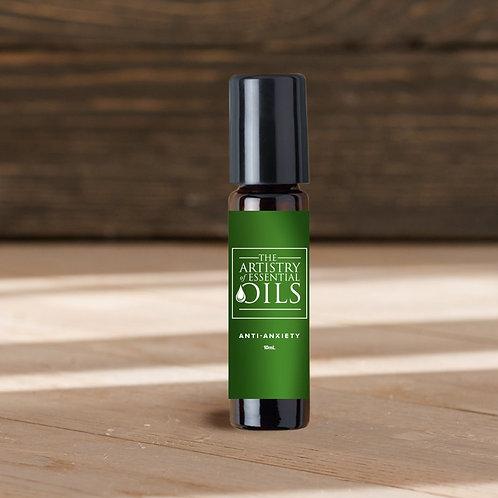Anti-Anxiety Rollerball Blend -  Clary Sage, Geranium, Bergamot Essential Oils