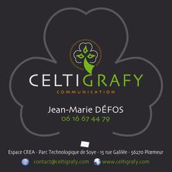 Carte visite Celti Grafy