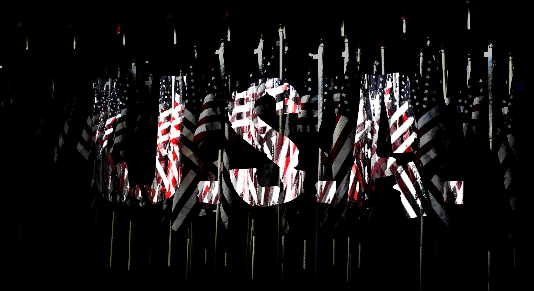 """""""USA"""" 100 x 60 cm"""