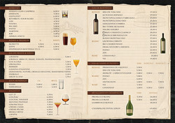 Cartes des vins restaurant italien