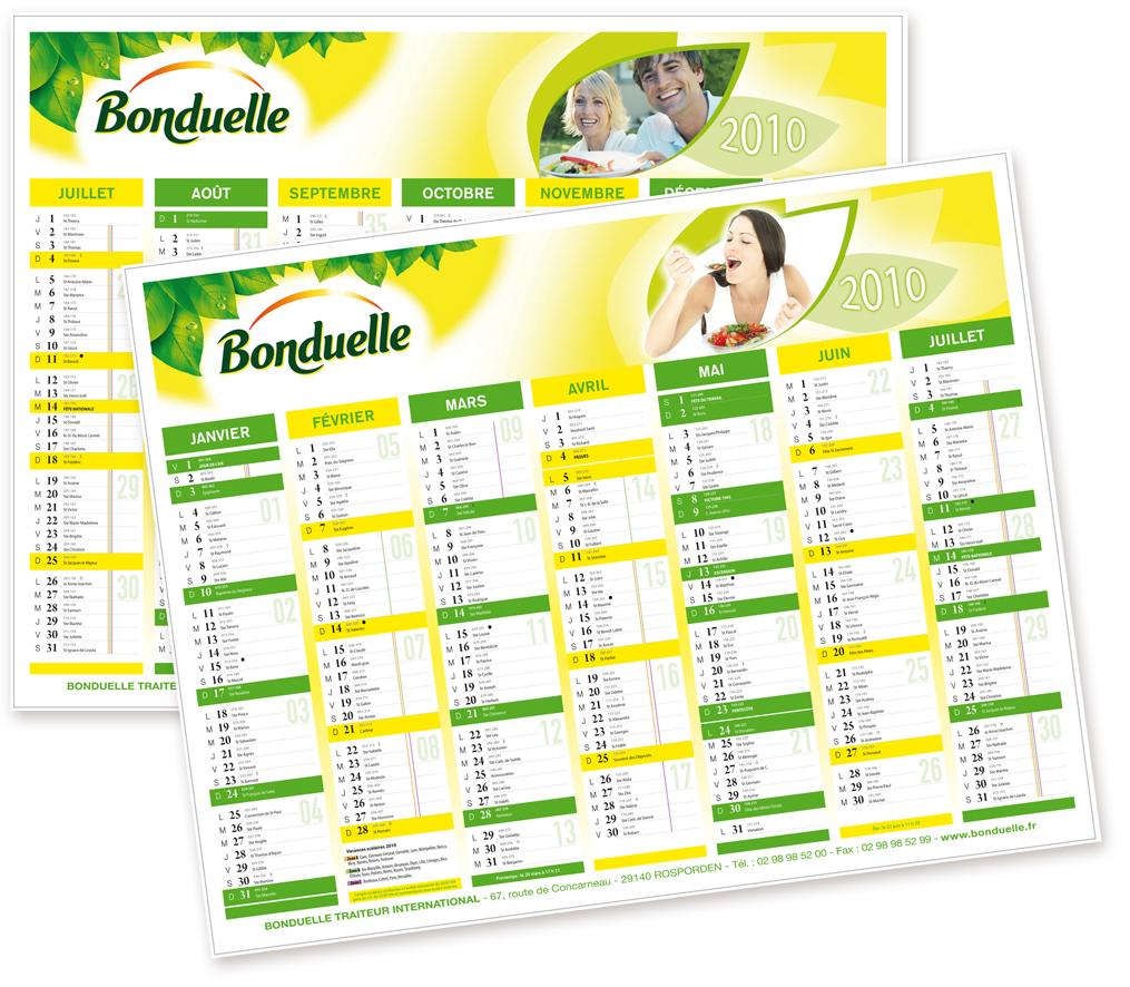 Calendrier Bonduelle