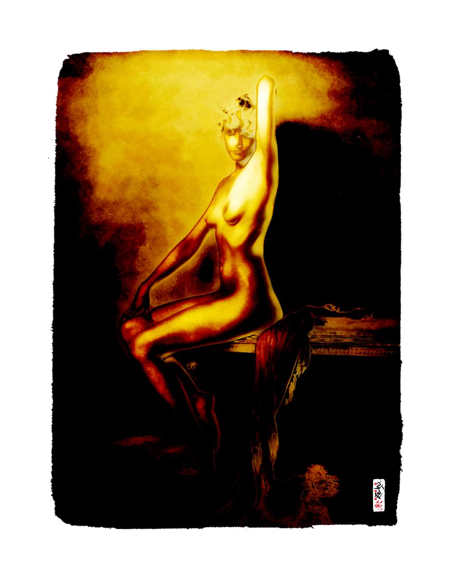 """Gold Girl"" 60 x 40 cm"
