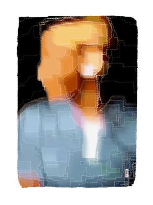 Sans regard - 120 x 90 cm