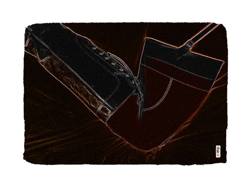 """Black Boot"" 80 x 60 cm"