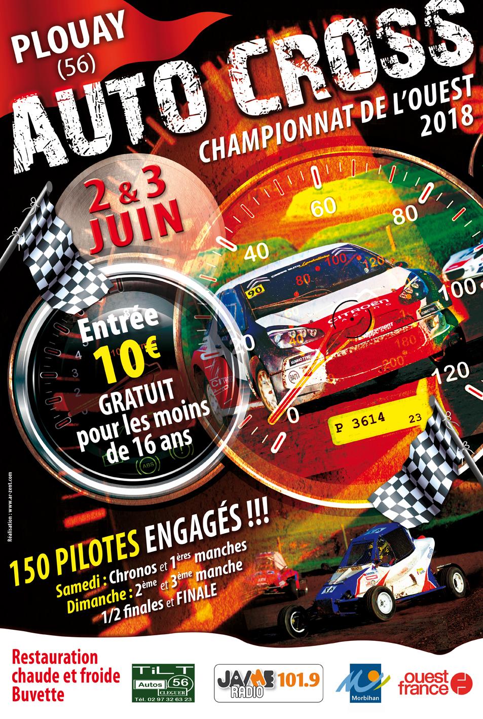 Affiche 35x50 Autocross 2018