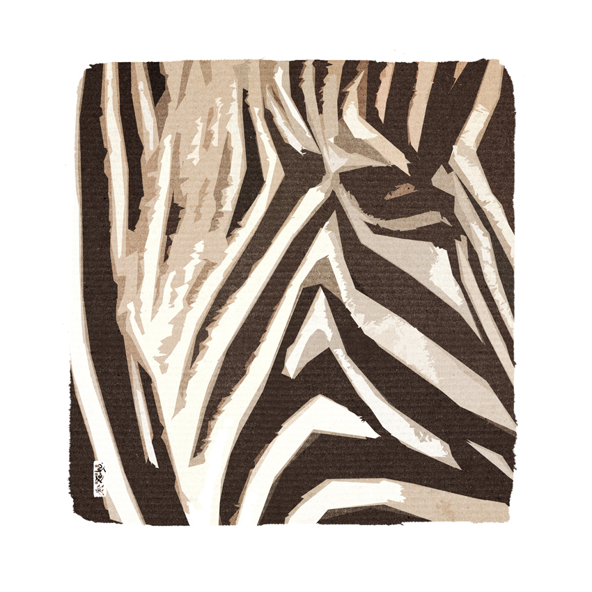 """""""Zebra"""" 80 x 80 cm"""