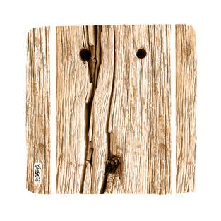 Tête de bois - 50 x 50 cm