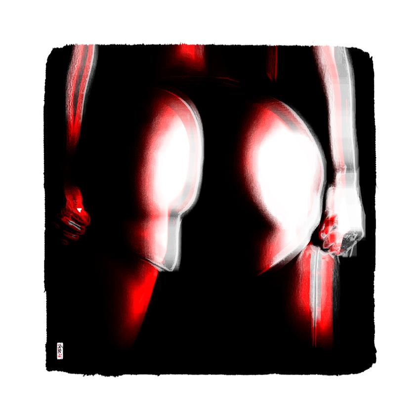 """""""Red Ass"""" 60 x 60 cm"""