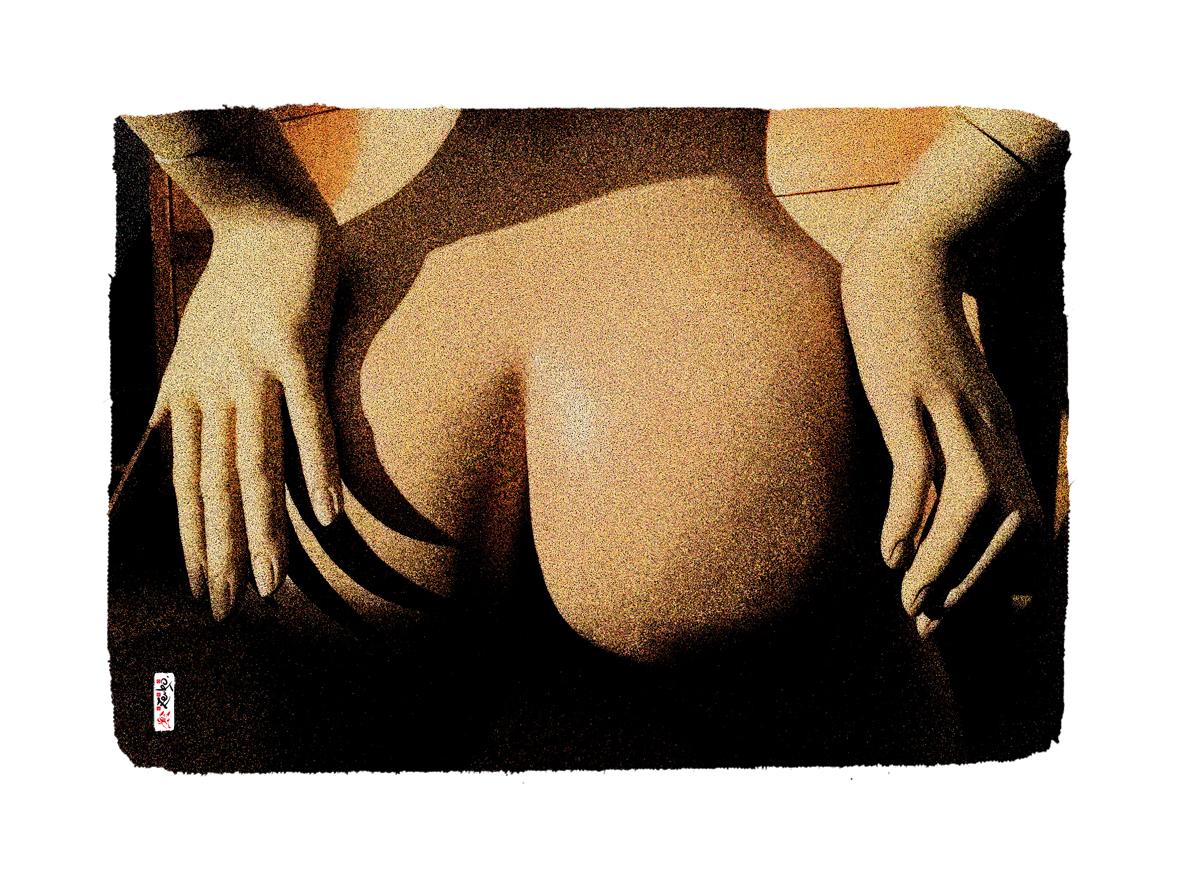 """Plastic Ass"" 80 x 60 cm"