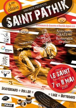"""Affiche pour la """"Saint Pathik"""""""