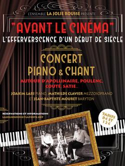 Affiche concert piano et chant