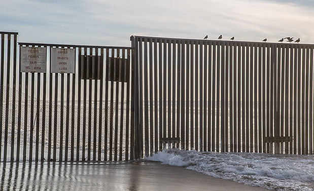 %22Ocean Border Fence%22 by Tony Webster