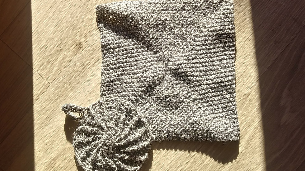 Dishcloth and potholder combo