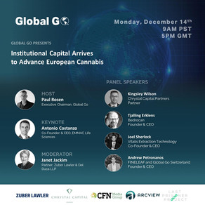 Institutional Capital Arrives to Advance European Cannabis