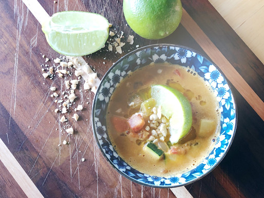 Spicy Peanut Vegetable Soup
