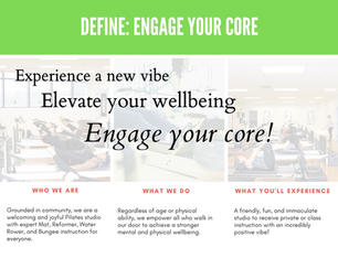 Engage Your Core Vision Board