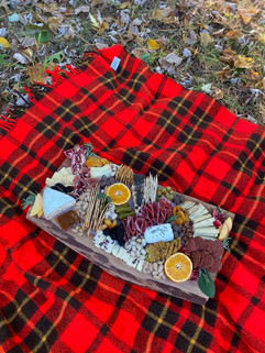 picnic charcuterie board olive and fig
