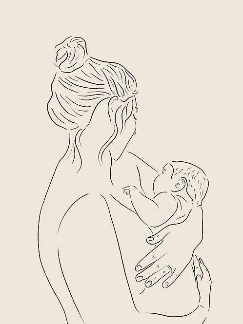 Custom Digital Illustration | Line Drawing
